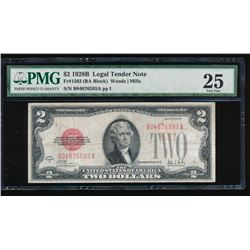 1928B $2 Legal Tender Note PMG 25