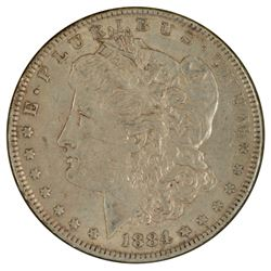 1884 $1 Morgan Silver Dollar Coin