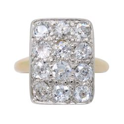 14KT Two Tone Gold 1.08ctw Diamond Ring