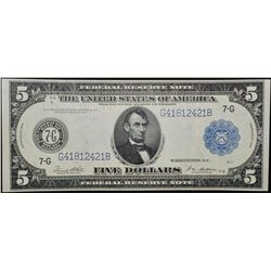 1914 $5 Chicago Federal Reserve Note