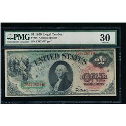 1869 $1 Legal Tender Note PMG 30