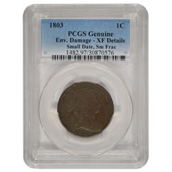 1803 Draped Bust Large Cent PCGS XF Details