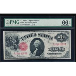 1917 $1 Large Legal Tender Note PMG 66EPQ