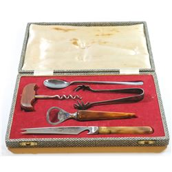 Cheese and wine serving set by Joseph Elliot & Sons