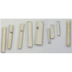 Collection of 8 mezuzah scrolls