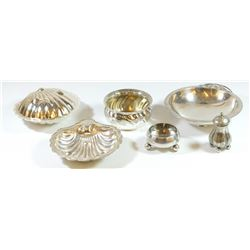 Collection of 6 silver-plated items