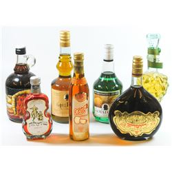 Collection of 7 alcoholic beverages