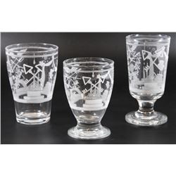 Collection of 2 goblets and a glass, Jewish Freemasonry