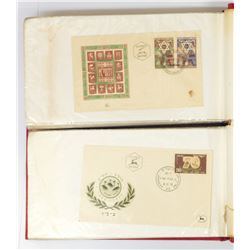 Collection of 200 Sunday envelopes, appearance of the first postage stamp, Israel