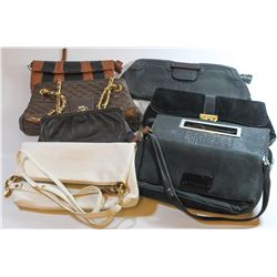 Collection of 8 different fashionable bags