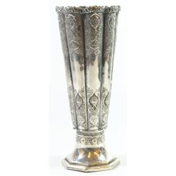 Antique 84 silver Persian Isfahan flower vase