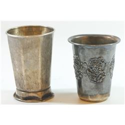 Lot of 2 925 sterling silver Kiddush cups