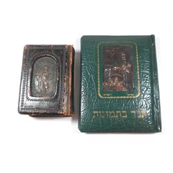 Lot of 2 Bibles, Sinai Press, with prints