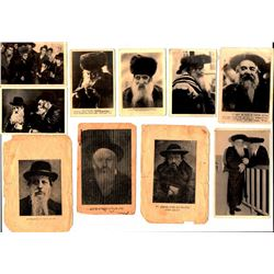 Collection of 17 old photos of rabbis