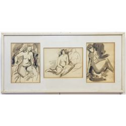 Shulamit Carmi, naked woman, 3 works