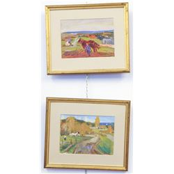 V. Rojkov, Rural Life, lot of 2 works