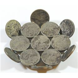 Old Brazilian silver coin plate