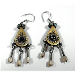 Pair of old quality Turkmen earrings