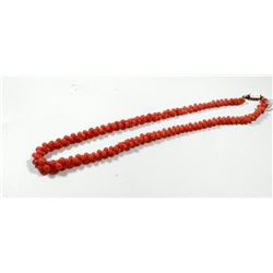 Entwined pink coral necklace