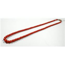Antique layered coral necklace