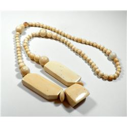 Old massive high-quality ivory necklace