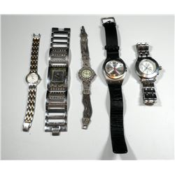 Collection of 5 different wrist watches