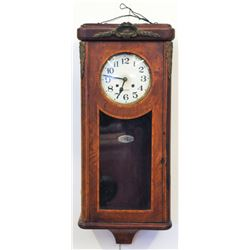 Antique French wall-mounted pendulum clock