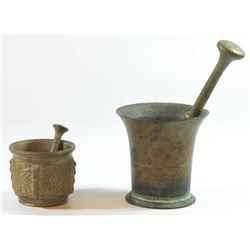 Lot of 2 old mortars