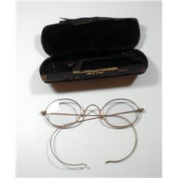 Antique English reading glasses by  Dollond & Atitchison