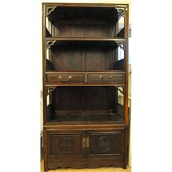 Old Chinese wooden bookcase