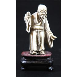 Carved ivory Chinese Immortal figure
