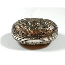 Antique Chinese silver tobacco box