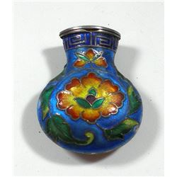 Old quality enamelled Chinese bottle