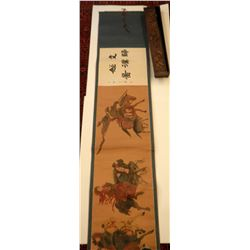 Vintage Chinese painting in elegant wooden box