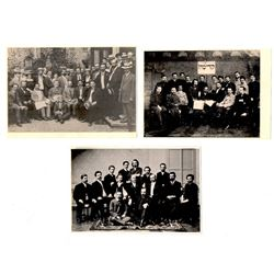 Collection of 4 photos of various Zionist assemblies, early 20th century