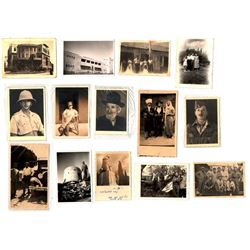 Collectio of 15 old photos of Jews and various places, including the Jewish Bridage