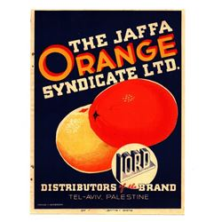 Jaffa Oranges - small color poster, Mandatory Palestine