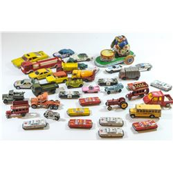 Collection of 35 vintage car toys