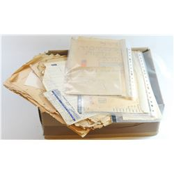 Collection of documents, contracts and memos of the Remez School in Kfar Saba