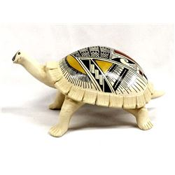 Mata Ortiz Polychrome Pottery Turtle by Meleros