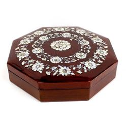 Chinese Inlay Mother of Pearl Lacquerware Box