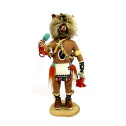 Hopi Wolf Kachina by L. Honeyestewa