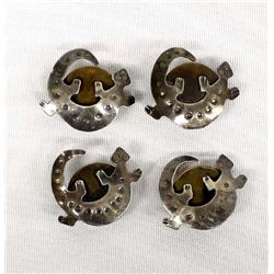 Native American Navajo Lizard Button Covers