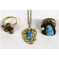 Native American Navajo Gold Filled Jewelry