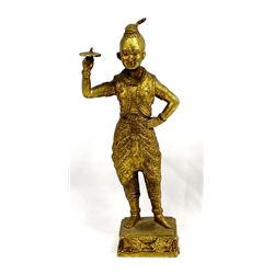 Brass over Wax Siamese Dancer
