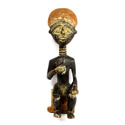 Vintage African Carved Wood Statue