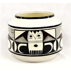 Navajo Hand Painted Glazed Ceramic Bowl by Begay