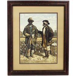 Framed William Aiken Walker Sharecropper's Print