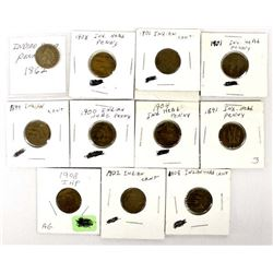 11 Indian Head Cents