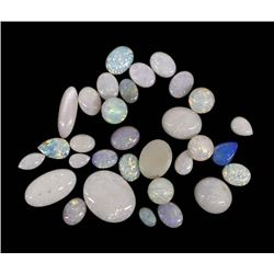 Collection of Genuine Opal Cabochons & Beads